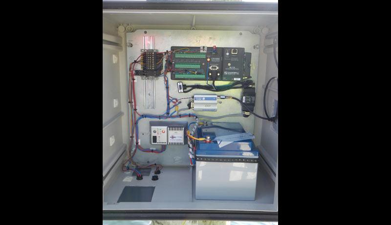Messschrank mit Datenlogger, Spannungsversorgung und Datenübertragung