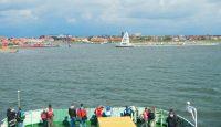 Ansicht des Hafens Juist von See kommend