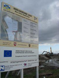 Baustellenschild des Bauvorhabens