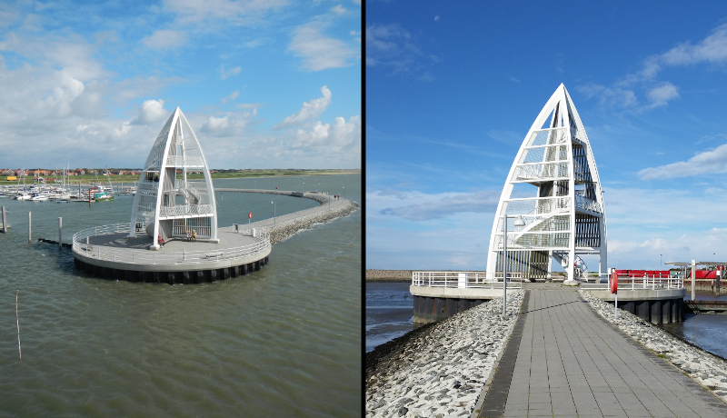 Ansicht des Wahrzeichens auf der Seebrücke Juist