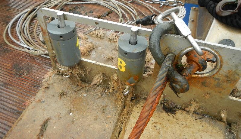 Verwendetes Equipment - Detailansicht des Sedimentfängers