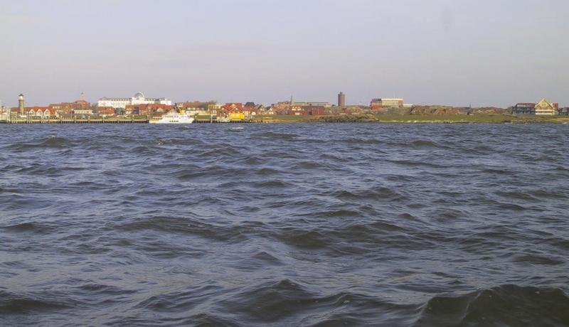 Sicht von See kommend auf den geplanten Sportboothafen - vorher