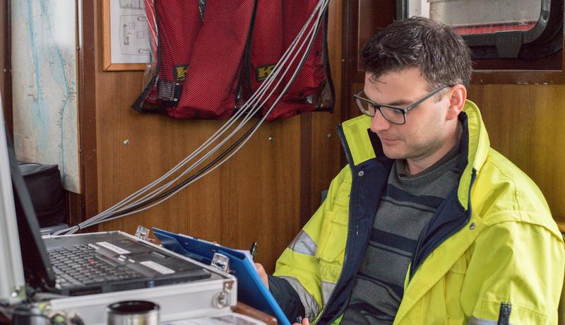 Datenaufnahme an Bord