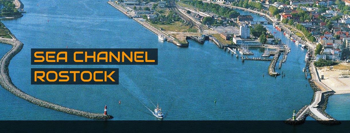 Sea channel Rostock